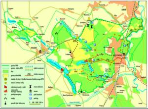 narodowy park wielkopolski - mapa parku